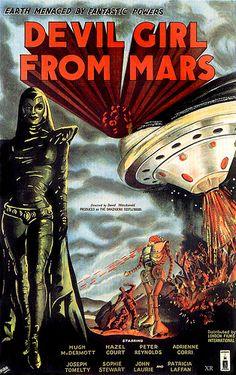 """1954 ... """"Devil Girl from Mars"""""""