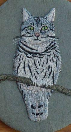 Meowl - Needlework meowl, cat