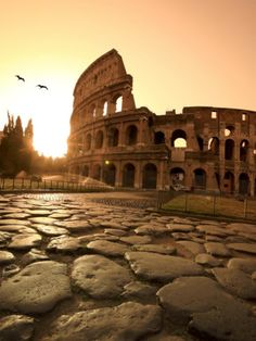 The Colosseum also known as the Coliseum, Rome, Italy.