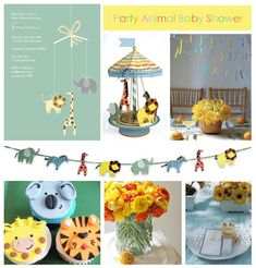 """""""Party Animal"""" Baby shower theme"""