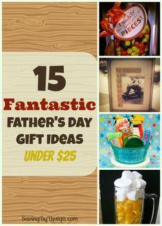 15 Fantastic Father's Day Gift Ideas Under $25! | SavingByDesign.com