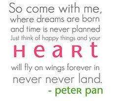 disney quot, quotes, dream, land, inspir, peterpan, thing, live, peter pan