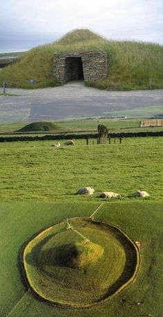 Maes Howe Neolithic Burial Cairn, Orkney Islands, Scotland