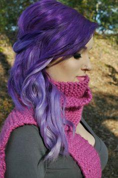 Purple Ombre Hair!