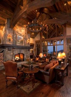 my dream living room in my dream log cabin dreams, dream living rooms, dream homes, log cabins, timber frames, mountain homes, dream houses, stone fireplaces, rustic room