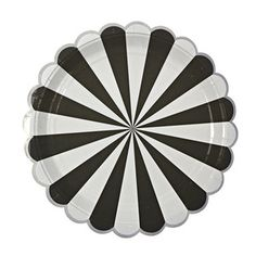Party Plate in Black/White