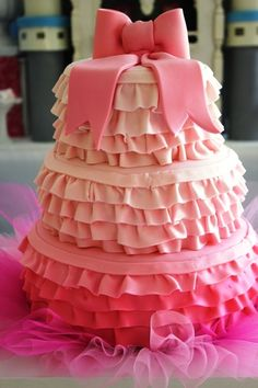 Ruffle Cake with Bow