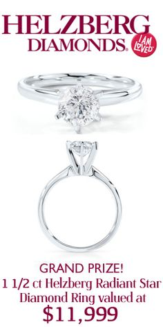 #RePin and Enter to #Win this $12,000 Diamond Star #Ring from #Helzberg! #jewelry #sweeps VALID UNTIL SEPT 18
