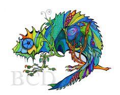 Chameleon - Print
