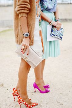 fashion shoes, polka dots, girl fashion, color, outfit