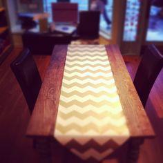 Chevron Table Runner - gorgeous graphic element for sleek Thanksgiving table