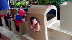 Card Board Box Train for Train party