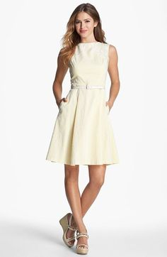 Seersucker & Lace Dress = perfect for the Kentucky Derby!