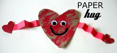Send a paper hug craft from @Allison j.d.m McDonald at No Time for Flashcards