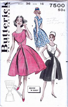 1950s Vintage  Walk Away Dress pattern by allthepreciousthings, $55.00