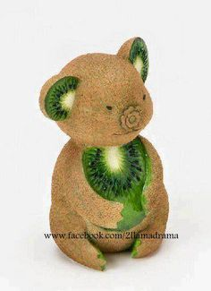 fruitart, home grown, kiwi, australia, koala bears
