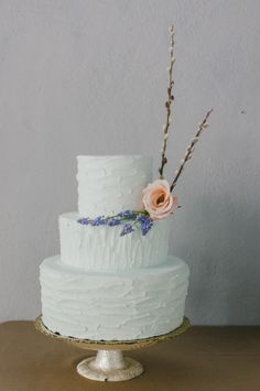 Winter wedding cake: http://www.stylemepretty.com/pennsylvania-weddings/philadelphia/2014/05/29/winter-to-spring-wedding-inspiration/   Photography: Rachel Pearlman - http://www.rachelpearlmanphotography.com