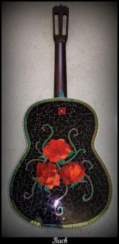 rose  guitar - beautiful
