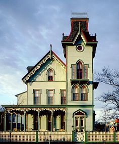 The Abbey  Cape May, NJ 1870-  Gothic Revival - One of the most heavily photographed houses in America.