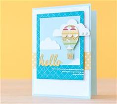 Show someone how much you care with this charming hot air balloon card!