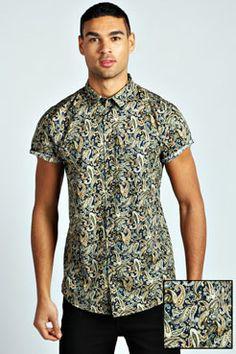All Over Paisley Print Shirt at boohoo.com