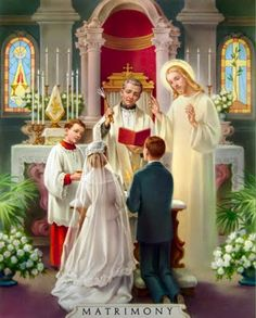 Love this image of Christ present at the Sacrament of Matrimony.