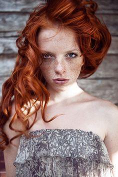 model: sasha  http://anastasiafursova.com/ #fire #red #girl #beauty #eyes #red hair