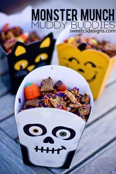 monster munch muddy buddies- the perfect #glutenfree #halloween #snack !