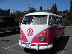 Another Volkswagon Bus in Pink