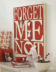Forget Me Not notice board.
