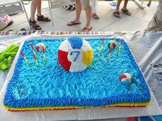 Beach ball- pool party cake