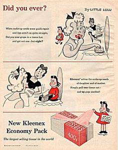 1956 Vintage Kleenex Little Lulu Print Ad