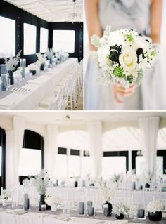 grey, white and black wedding