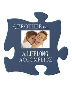 'Brother' Puzzle Piece Photo Frame - love this!