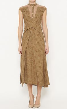 Peter Pilotto Olive, Grey And Blush Dress