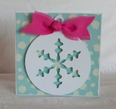 Christmas Cards Greeting Cards Blue Snowflake by CardinalBoutique, $2.50