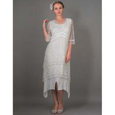 AL-5901 Vintage Titanic Dress in Ivory