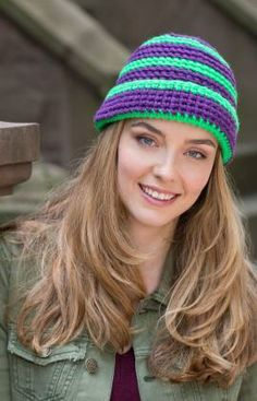 crochet hat, heart yarn, crochet patterns, stripe hat, hat free