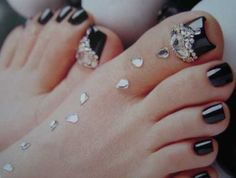 Pretty Jeweled Toes