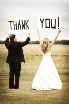 Love this for a thank you card for after the wedding! Super cute!