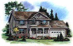 Home Plans HOMEPW26198 - 2,002 Square Feet, 4 Bedroom 2 Bathroom Farmhouse Home with