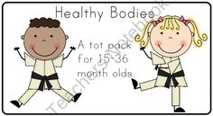 Healthy Bodies Tot Pack product from LittleAdventuresPreschool on TeachersNotebook.com