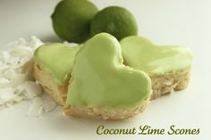 Coconut Lime Scones >> well that sure sounds delicious!