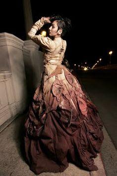 beautiful steampunk dress, by whom?