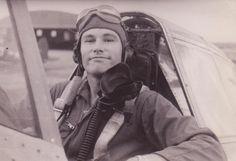pilot in P-51 Mustang