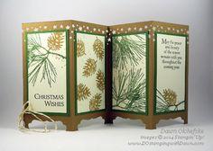 #dostamping #stampinup #dawnolchefske #confettistarspunch #ornamentalpines #2014holidaycatalog #cardmaking #diy #screendivider #foldingcards #christmas