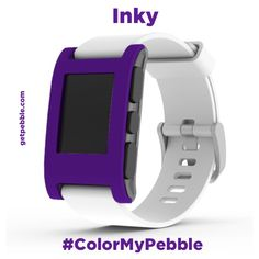 "A deep purple suggested by Rob G. on Facebook reminds Team Pebble of ""Inky"" from Pac-Man."