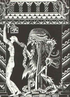 Kay Nielsen- Rapunzel- Grimms Fairy Tales