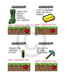 #Minecraft #Valentines Day Cards