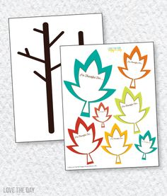 Thankful Tree Printa